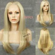 Medium Straight Blonde Wig