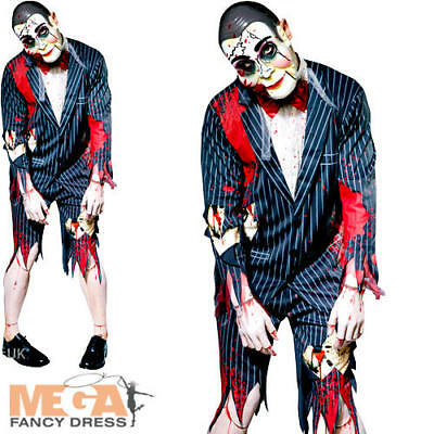 Zombie Puppet Mens Fancy Dress Goosebumps Slappy Horror Adults Costume Outfit  (Goosebumps Halloween Costumes)