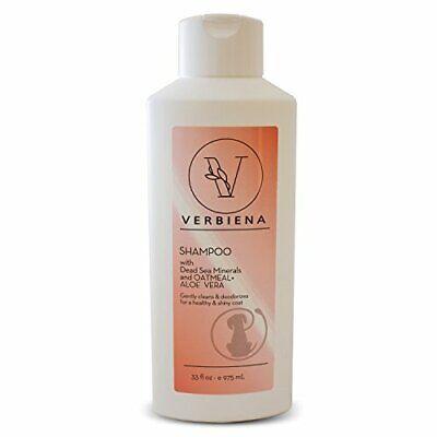 Oatmeal Dog Shampoo Aloe for Itchy Dog by Verbiena -tear less soap free formula