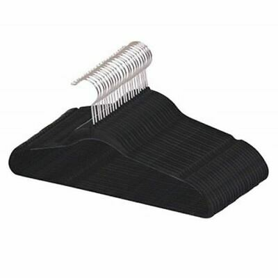 Best, Sturdy and Non-slip Black Steel Indoor Flocked Suit/ Clothes Hangers