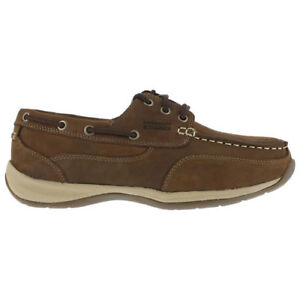 Rockport RK6736 Men's Safety Shoes, Sailing  Boat Shoe,Brwn Sz 8