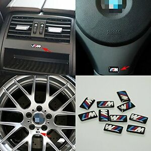 10x M Power Sports Performance Badge Alloy Wheel Sticker Emblem Decal For BMW