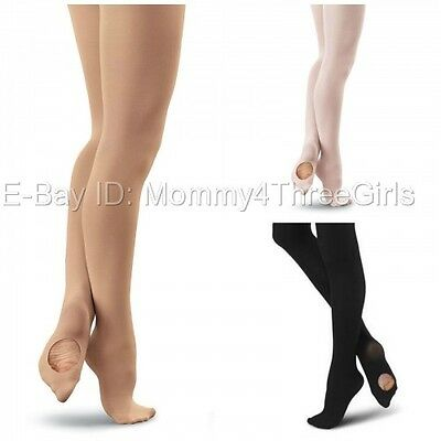 NEW Capezio Bloch Body Wrappers Convertible Transition Dance Tights Child Adult