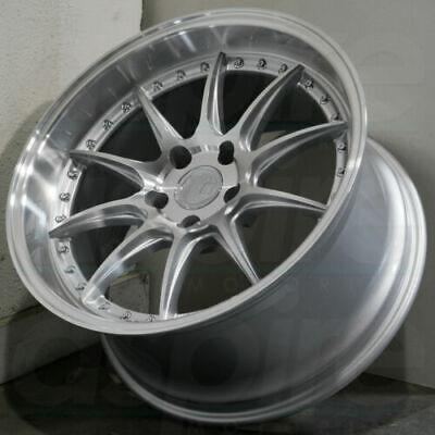 Aodhan DS07 Wheels 5x114.3 18x8.5 +35 / 18x9.5 +30 Silver Rims 18 Inch Set 4