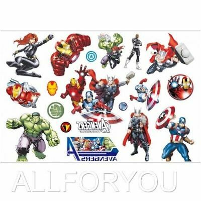 NEW The Avengers Temporary Tattoo Sheet Children Kids Birthday Party Bag Filler - Avengers Tattoo