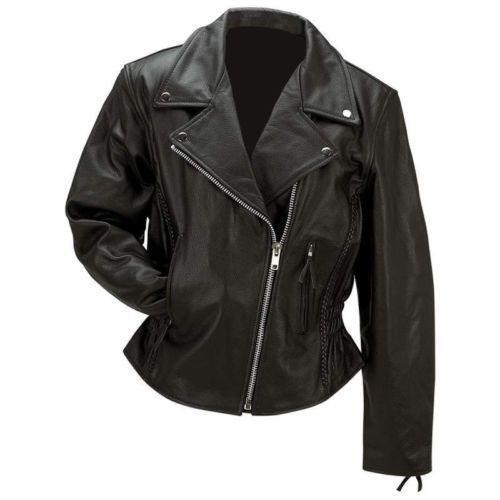 Womens leather jacket ebay