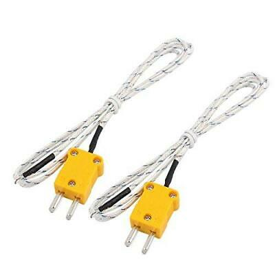 Uxcell 2 Pcs K Type 500c Wire Lead Measuring Thermocouple Sensor 1m 3.3ft