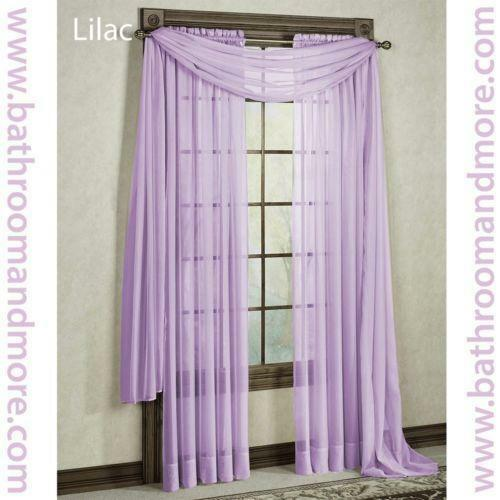 Lilac Sheer Curtains Ebay