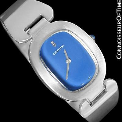 """Corum """"Love Bond"""" Midsize Ladies Vintage Bangle Bracelet Watch - Sterling Silver for sale  Shipping to India"""