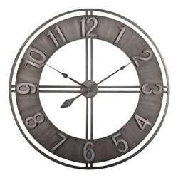 Studio Designs 30 Loft Brushed Steel Analog Home Decor Wall Clock (Open Box)