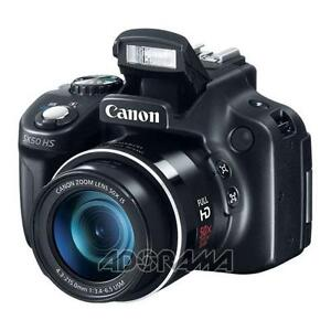 Canon PowerShot SX50 HS Digital Camera, Black #6352B001
