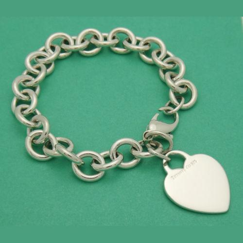 Tiffany Heart Link Bracelet Ebay