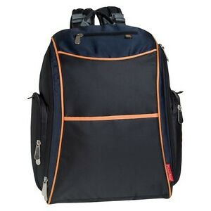fisher price urban backpack diaper bag black orange navy ebay. Black Bedroom Furniture Sets. Home Design Ideas