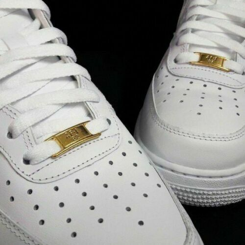 NEW AIR FORCE 1 laces with GOLD BADGE AF1 82 nike jordan bred supreme white 72