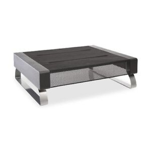 Rolodex 82412 Wire Mesh Large Monitor Stand, 18 7/16w x 14 3/8d