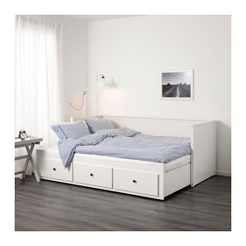 ikea hemnes daybed with under bed storage and trundle bed 2 single beds or double beds in. Black Bedroom Furniture Sets. Home Design Ideas