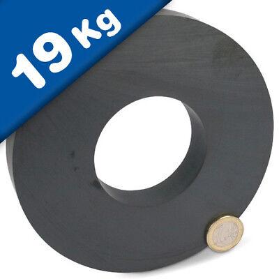 Ringmagnet / Magnetring Ø 140 x 63 x 17mm Ferrit Y30 - hält 19 kg Keramik-Magnet