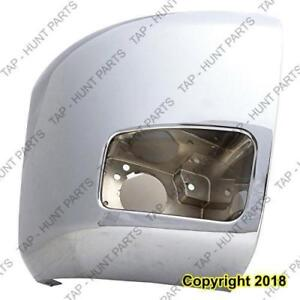 Bumper End Front Passenger Side 2500 With Fog Lamp Hole CAPA Chevrolet Silverado 2007-2013