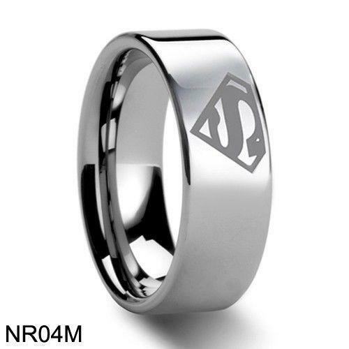 superman wedding band ebay - Superman Wedding Rings