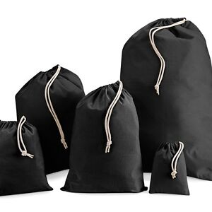 Black-100-calico-canvas-Cotton-Drawstring-Laundry-favour-Gift-Sack-Bag