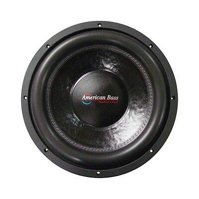 American Bass Xfl1544 15  Subwoofer Dual 4 Ohm Voice Coils  200 Oz  Magnet