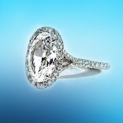 Oval Diamond 4.57 ct Engagement Ring GIA Certified