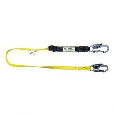 Shock Absorbing Lanyard 6 Single Leg W Snap Hook Rebar Hook Guardian 01221