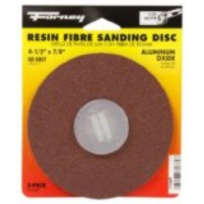 Forney 71669 Sanding Discs Aluminum Oxide With 78-inch Arbor 4-12-inch 50-g