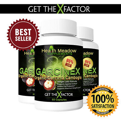 100% Pure Garcinia Cambogia Extract 95% HCA Weight Loss Diet Pills Fat Burner