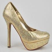 Gold Glitter Heels   eBay
