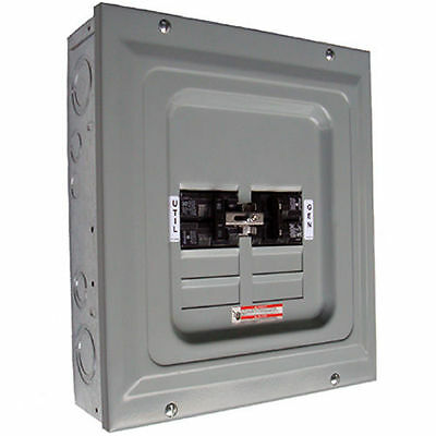 Indoor Transfer Panel - Generac 6334 - 100-Amp Single Load Indoor Manual Transfer Panel