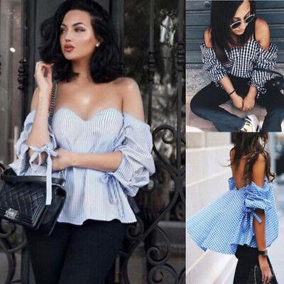 Fashion Summer Women Casual Chiffon Off Shoulder Lady T Shirts Loose Tops Blouse (Fashion Women Casual Chiffon)