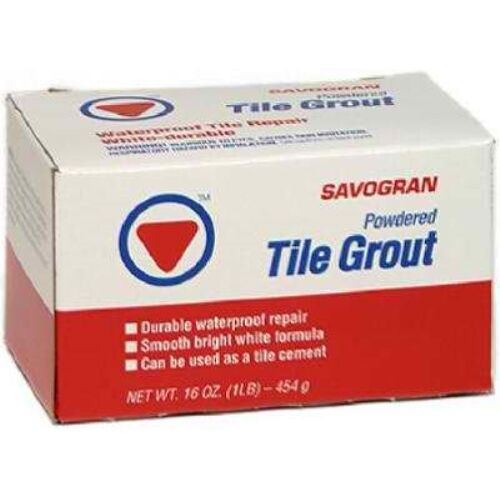 SAVOGRAN CO 12841 Powder White Tile Grout