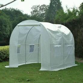 Outsunny 250L×200W×200H cm Walk-in Greenhouse-White