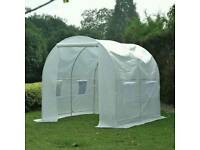 Outsunny 250L×200W×200H cm Walk-in Greenhouse-White