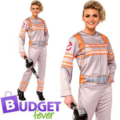 Womens Ghostbuster Kostüme (Ghostbusters Ladies Fancy Dress Halloween Movie Film Womens Adults Costume New)
