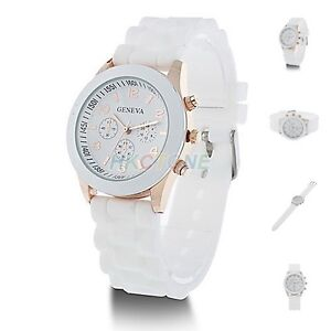 New Girl's Women's Geneva Silicone Jelly Gel Quartz Analog Sports Wrist Watch