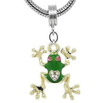 - Frog Charm Dangle European Bead Compatible for Most European Snake Chain Bracele