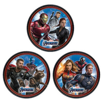 AVENGERS Endgame SMALL PAPER PLATES (8) ~ BIrthday Party Supplies Cake Dessert
