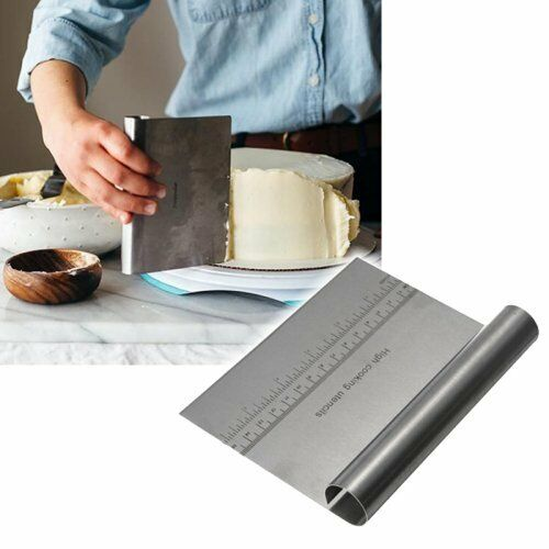 Dough Cake Stainless Steel Kitchen Pizza Flour Tool Cutter Gadget Scraper