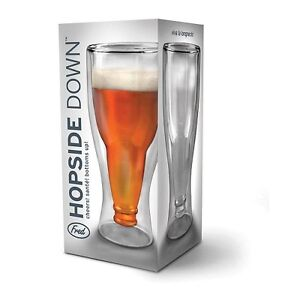HOPSIDE-DOWN-viva-la-longneck-FRED-BOTTLE-IN-A-GLASS-Beer-drinking-fun-New
