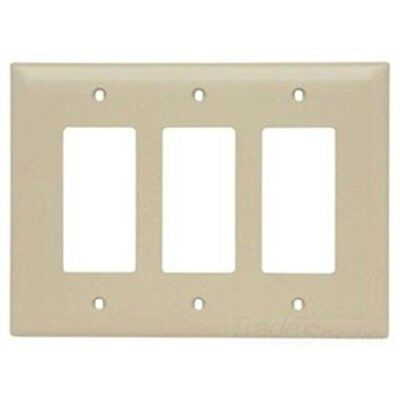 Pass & Seymour TPJ263LA Jumbo Three Gang Three Decorator Light Almond ()