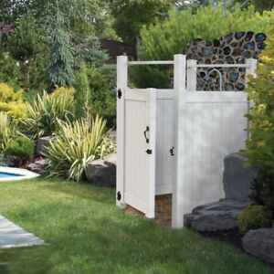 NEW in Box YardSmart  Outdoor Shower Gate/Door Kit 5' x 4' White