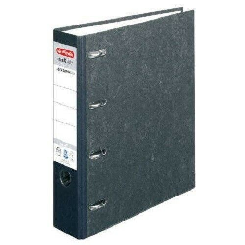 5 x Herlitz Doppelordner A4 max.file 70cm Bankordner 2 x A5 Quer, Wolkenarmor