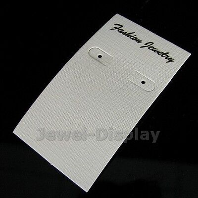 100 White Earring Backing Card Bags Jewelry Retail Display 2 X 3.5 Inch5 X 8 Cm