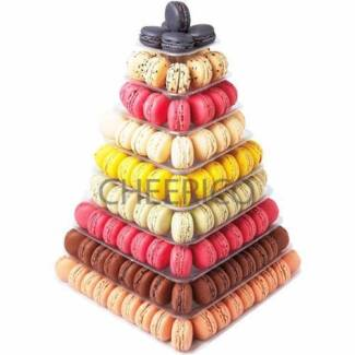 9 Tier Square Macaron Stand for Hire Pick up Pyrmont