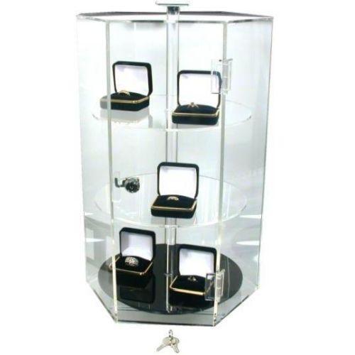 revolving jewelry display ebay. Black Bedroom Furniture Sets. Home Design Ideas