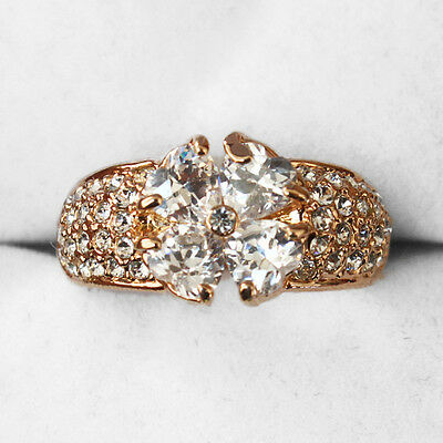 35.3CT 18K Rose Gold Plated Exquisite Crystal Ring New Style MSZ25