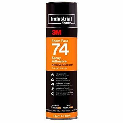 3m Foam Fast 74 Spray Adhesive Orange Net Wt 16.9 Oz