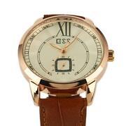 D Herrenuhr Automatik Uhr Leder Armband Neu